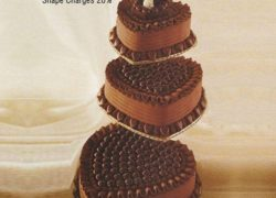 3 Tier Heart Shape Cake – 2 Stands