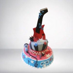 Guitar Theme Cake