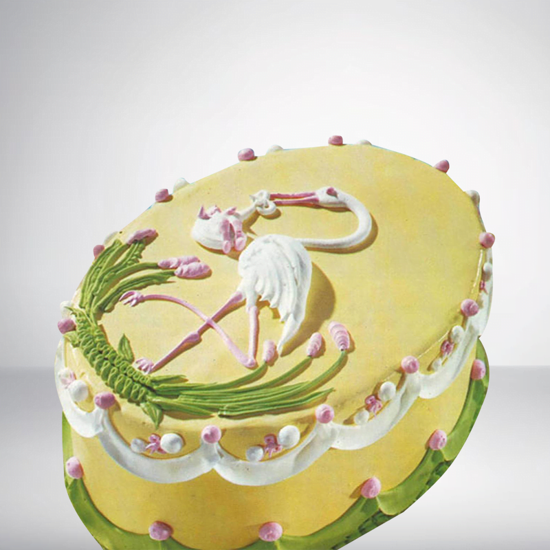Marvelous Sc048 Crane Bird Birthday Cake Cake Park Personalised Birthday Cards Cominlily Jamesorg