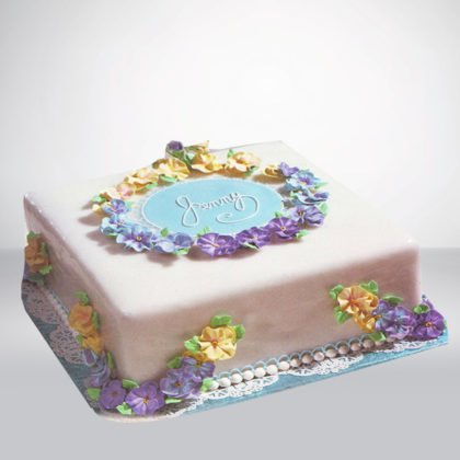 SC061- Flower Birthday Cake