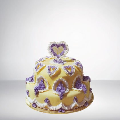 2 Tier Round Shape Cake
