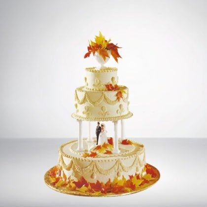 3 Tier Round Shape Cake With Stand