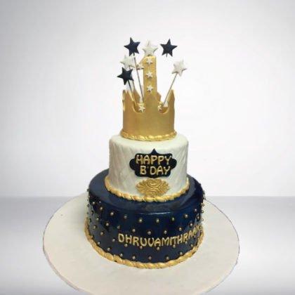 TC054-Crown Theme Cake