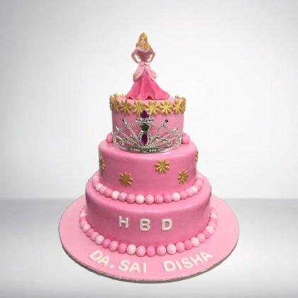 TC045-Cinderella Theme Cake