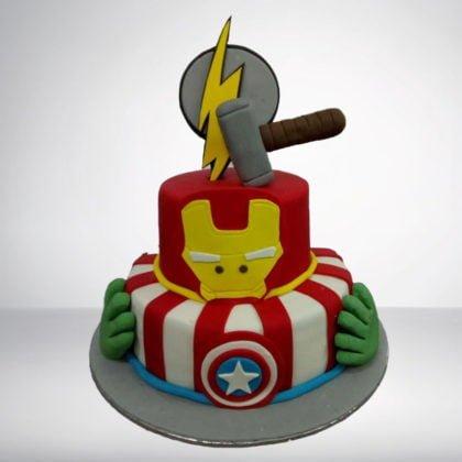 TC051-Avengers Theme Cake
