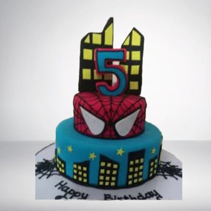TC050-Spider Man Theme Cake