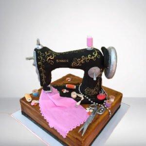 Tailor Machine Theme Cake