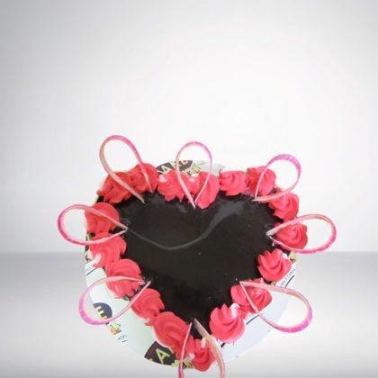 Chocolate Truffle Heart Shape Cake
