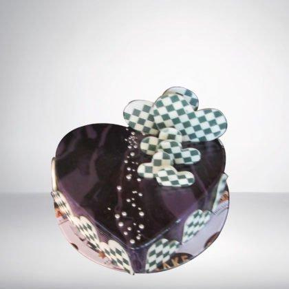 Black Currant Heart Shape Cake