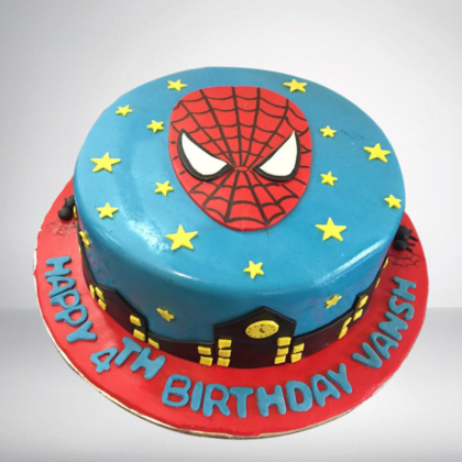 TC062 – Spider Man Theme Cake