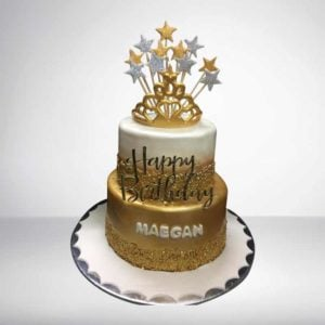Golden Crown Theme Cake | Cake Park