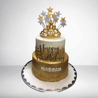TC063 – Golden Crown Theme Cake